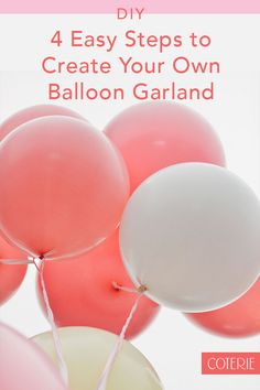 Easy tutorial for how to create your own balloon garland! Balloons Galore, Ballon Decorations, Above And Beyond, Balloon Garland, Diy Tutorial, Create Your Own, Party, Parties, Balloon Wreath