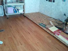 New floor in RV