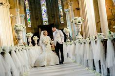 Church wedding in France Chateau Challain Magic..Flowers By Jean Marie Voignier Design Chateau Challain Photos By Flavio Bandiera