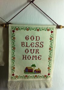 God bless our home wall hanging. Size: 47*31 cm Price $37