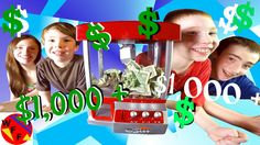 $1,000 + CLAW / CRANE MACHINE CHALLENGE!!!  | WEEEFAMFUN