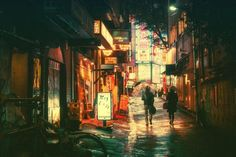 De Japanse fotograaf Masashi Wakui heeft een paar favoriete onderwerpen: de stad en de nacht. Deze komen perfect samen op de foto's van smalle straatjes in nachtelijk Tokio.