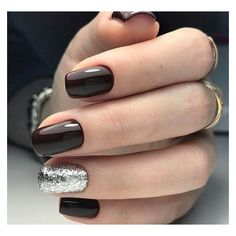 Black cherry silver nails ❤ liked on Polyvore featuring beauty products, nail care and nail treatments