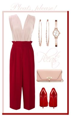 """""""Give Me Pleats, Please!"""" by igiulia on Polyvore featuring Sonia Rykiel, Christian Louboutin, Valentino, DKNY, Jacquie Aiche and pleats"""