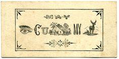 Vintage Escort Card - 1860's