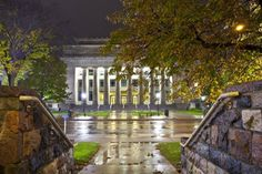 Angell Hall in an early morning rainstorm, University of Michigan #AnnArbor #MichiganCampus
