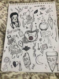 Indie Drawings, Art Drawings Sketches Simple, Doodle Drawings, Arte Grunge, Grunge Art, Doddle Art, Hippie Painting, Trash Art, Art Diary