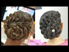 Dona / Recogido con Trenza! - Wrapped Bun! | Chikas Chic - YouTube