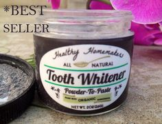 Naturally Dazzling Tooth Whitener with organic ingredients- remineralizing teeth powder with activated charcoal for rapid results