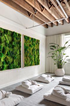 Yoga Room Design, Yoga Studio Design, Yoga Studio Decor, Yoga Decor, Spa Design, Salon Design, Design Ideas, Meditation Corner, Meditation Room Decor