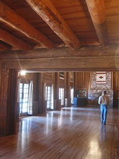 Inside Fuller Lodge, Los Alamos