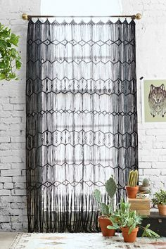 Magical Thinking Macrame Wall Hanging/Curtain - Urban Outfitters