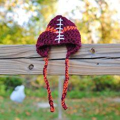 Virginia Tech Hokies Baby football hat Newborn hat by Kimberose, $20.00