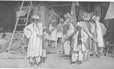Baluch Peoples from the Bolan Pass.  Picture from the book, People of all Nations. Taken by V. S . Manley