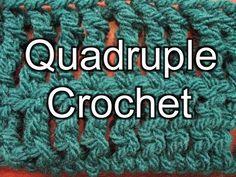 Beginner Crochet Stitches 11 - Quadruple Crochet - Slow Motion