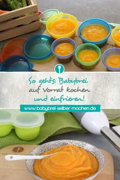 This saves time and money: Cooking baby porridge in stock and freezing: My tips and tricks for homemade baby porridge. Homemade Baby Puffs, Homemade Baby Snacks, Baby Puree Recipes, Baby Food Recipes, Chicken Baby Food, Baby Food 8 Months, Freezing Baby Food, Banana Baby Food, Clean Eating Soup
