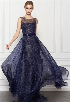 Galaxy Pattern Evening Gown