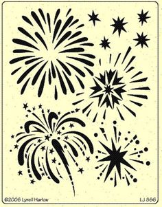 Firework stencil- add a stick to the end and carve out a pumpkin for the sparkler send-off