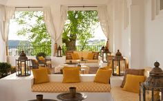 Finca Cortesin: Is this boutique hotel in Andalucia the best hotel in Spain? Outdoor Furniture Sets, Hotel Suite Luxury, Decor, Interior Design, Hotel, Luxury Accommodation, Luxury Villa, Porch And Balcony, Outdoor Living