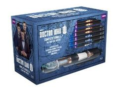 For pre-order on Amazon. Blu-ray gift set of Doctor who seasons 1-7. The sonic screwdriver is a UNIVERSAL REMOTE! Wish I had money.