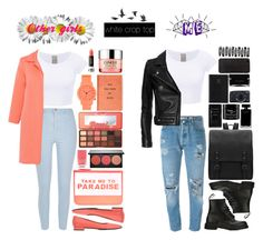 """""""Other girls VS Me: white crop top"""" by marynela-voda on Polyvore featuring River Island, D.Exterior, F.Lli Bruglia, Accessorize, Smashbox, Nails Inc., Too Faced Cosmetics, Komono, Clinique and Anna Sui"""