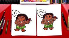 How To Draw Maui From Moana