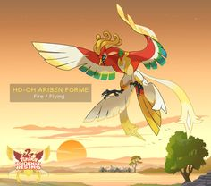Ho-Oh Arisen Forme by DaybreakM on DeviantArt- Fakemon Pokemon