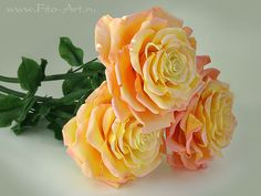 Handmade flowers - roses from the cold porcelain