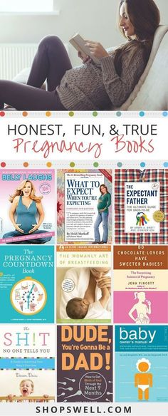 15 pregnancy books with real world advice for the first time mom and dad. #PregnancyNutritionAndFood