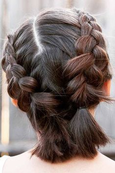 Double Dutch Braids For Short Hair ❤️ We all know that over time, your kiddo gets bored with those ponytails and braids she wears every day. Let us respect her sense of fashion and vary her styling routine. See our picture gallery. ❤️ See more: http://lovehairstyles.com/cute-girls-hairstyles/ #lovehairstyles #hair #hairstyles #haircuts #braids #braidedhairstyles #shortgirlhairstyles