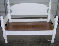 Four Poster Headboard Bench (easy)