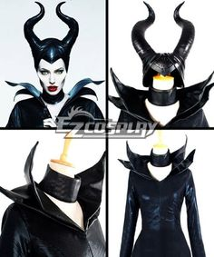 Maleficent Disney Movie Black Witch Angelina Jolie Cosplay Horns Headpiece - Only Horns Headpiece -Deluxe Ver. Maleficent Cosplay, Diy Maleficent Horns, Maleficent Halloween Costume, Movie Halloween Costumes, Toy Story Costumes, Maleficent Makeup, Angelina Jolie Maleficent, Maleficient Costume, Cosplay Horns