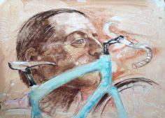 Tributo a Fausto - 2014 - Acrilico e sanguigna su tela - cm. 100 x 70