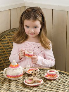 Ravelry: Tea and Cookies Party Set pattern by Kathleen Stuart free crochet pattern