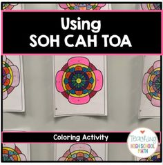 Geometry Right Triangle Trigonometry SOH CAH TOA Color by Number Teaching Geometry, Geometry Activities, Color Activities, Math Class, Fun Math, Math Education, Geometry Angles, Right Triangle, Math Courses