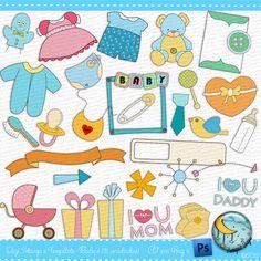 Digi Stamp e Template - Baby's