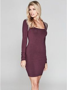 GUESS by Marciano Women's Cherry Embellished Sweater Dress