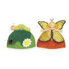 NEW North American Bear Butterfly / Caterpillar Metamorphosis Topsy Turvy Doll
