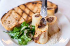 Bone marrow, sourdough bread, parsley caper salad