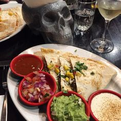 Yes where else to dine on #dayofthedead but Fitzroy's Hecho en Mexico? #delicious #quesadilla with #picodegallo #guacamole & #chipotle salsa but coz it's a school night sadly no margaritas #mexicanfood #restaurantaustralia #delicious #fitzroy #visitmelbourne #melbournefood #yum #instafood #foodpic