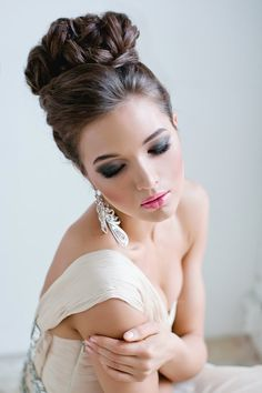 curled wedding updo ~  we ❤ this! moncheribridals.com  #bridalupdo