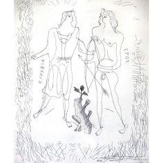 Georges Braque - Eurybia and Eros - Original Etching