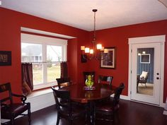 dining room with built-in window seat
