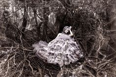 """""""Anansi's Widow"""" from the """"Wonderland"""" Series   Model: Helen Beadle, Photographer: Kirsty Mitchell, 2010"""
