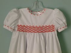 Hand Smocked Dress for a Toddler  Size 24 months by NancysFancysDesigns.