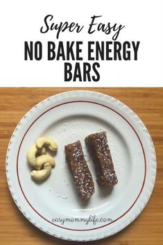 Super Easy No Bake Energy Bars: Quick Vegan Snack.  Looking for a nutrient-dense energy bar recipe? One that is super easy to make and healthy too. These no bake energy bars are your answer. They taste divine and pack in on protein and energy. Use them as a DIY breakfast bar, or as a quick snack on the go. #breakfastbar #energybar #nobakeenergybar #vegansnackidea