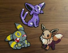 Pokemon Evoli Mentali Noctali - PerlerGeek                                                                                                                                                                                 Plus