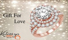 Beguiling Diamond Ring in 18Kt Rose Gold  Buy Now :http://buff.ly/1YDfFRr COD Option Available With Free Shipping In India