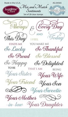 Mix and Match Sentiments AG-04565