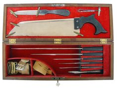 Nineteenth century amputation set... not all that different from today (except we use power saws)